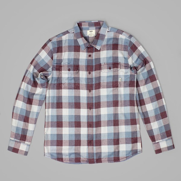 VANS ALAMEDA MENS LS SHIRT ROYALE BLUE