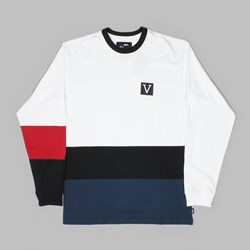 VANS CHIMA COLOUR BLOCK LS T-SHIRT WHITE