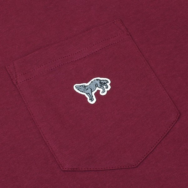 VANS CHIMA FERGUSON POCKET TEE BURGUNDY