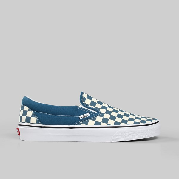 cfe0f7dbf616 VANS CLASSIC SLIP-ON CHECKERBOARD CORSAIR TRUE WHITE ...