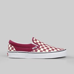 VANS CLASSIC SLIP-ON CHECKERBOARD DRY ROSE WHITE