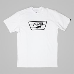 VANS FULL PATCH LOGO T-SHIRT WHITE