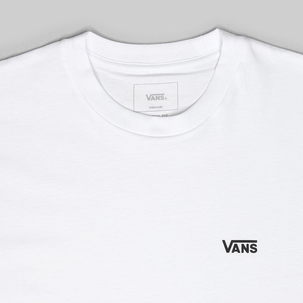 VANS LEFT CHEST LOGO TEE WHITE
