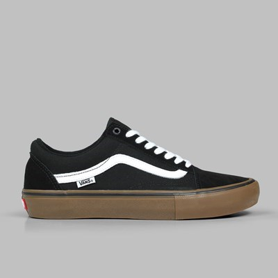 VANS OLD SKOOL PRO BLACK WHITE MEDIUM GUM
