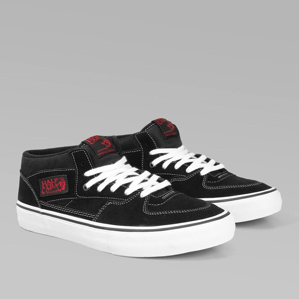 VANS PRO SKATE HALF CAB BLACK WHITE RED
