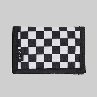 VANS SLIPPED WALLET BLACK WHITE CHECKER