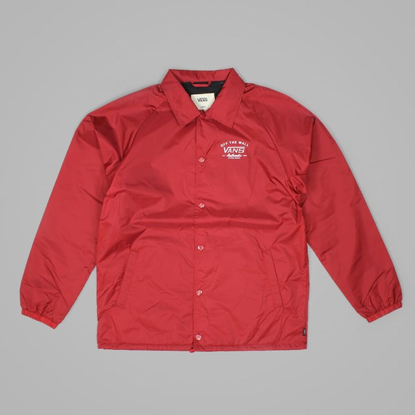VANS TORREY COACHES JACKET RED DAHLIA