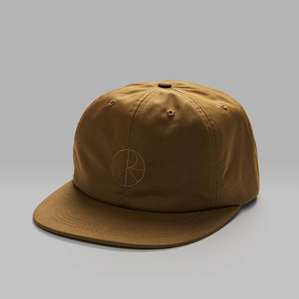 POLAR SKATE CO. WAXED COTTON CAP BROWN