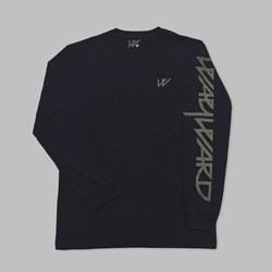 WAYWARD SKATEBOARDS LONG SLEEVE TEE BLACK
