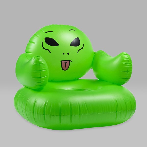 RIP N DIP WE OUT HERE INFLATABLE CHAIR GREEN