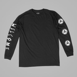 WELCOME BINARY LONG SLEEVE TEE BLACK