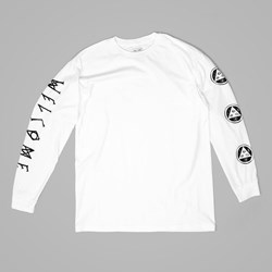 WELCOME BINARY LONG SLEEVE TEE WHITE