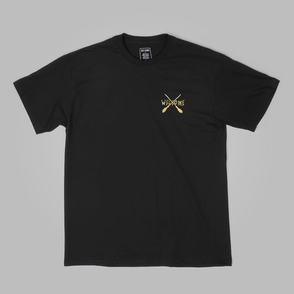 WELCOME BROOMSTICK TEE BLACK