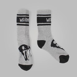 WELCOME SABERSKULL SOCKS HEATHER GREY
