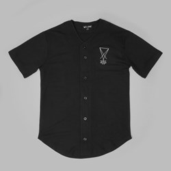 WELCOME SCRAWL BASEBALL JERSEY BLACK