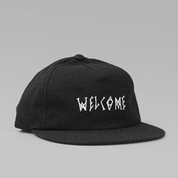 WELCOME SCRAWL WOOL STRAPBACK BLACK