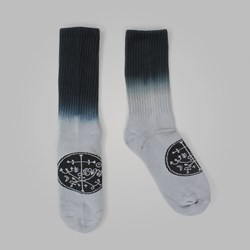 WELCOME SIGIL DIP DYE SOCKS BLACK GREY