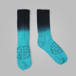 WELCOME SIGIL DIP DYE SOCKS TEAL BLACK