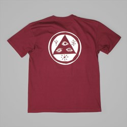 WELCOME SKATEBOARDS TALISMAN TEE BURGUNDY