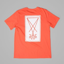 WELCOME SYMBOL TEE Coral White