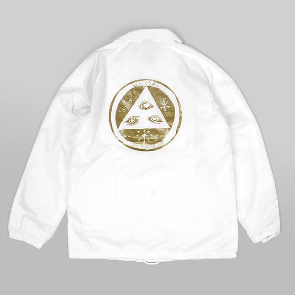 WELCOME TALISMAN COACH JACKET WHITE GOLD
