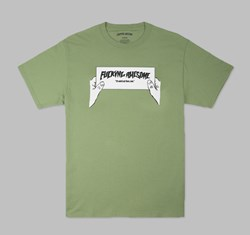 FUCKING AWESOME WEIRD OUT THERE TEE DILL GREEN