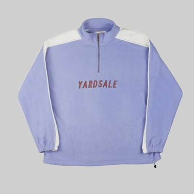YARDSALE QUARTERZIP FLEECE LILAC WHITE