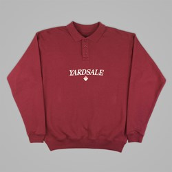 YARDSALE BURGUNDY DIAMOND POLO SWEAT
