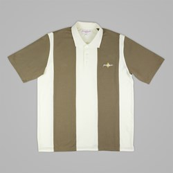 YARDSALE BROWN/CREAM QUARTZ POLO
