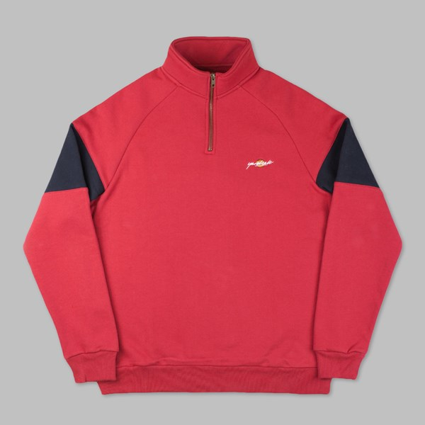 YARDSALE RED BLUE SUNSCRIPT QUARTERZIP