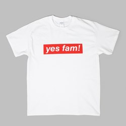 YES FAM! SHORT SLEEVE T-SHIRT WHITE
