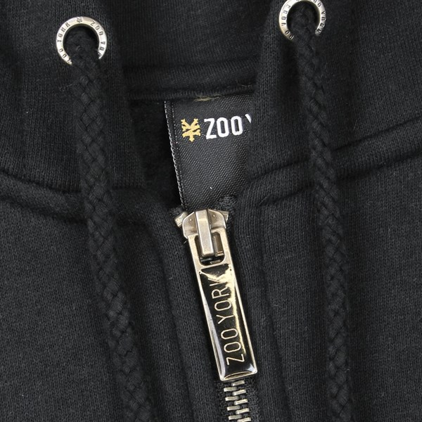 ZOO YORK GAME ZIP HOODY BLACK