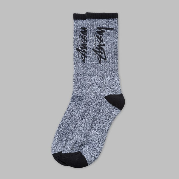 STUSSY STOCK PREMIUM SOCKS BLACK WHITE