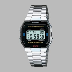 CASIO WATCHES A163WA-1QES SILVER BLACK