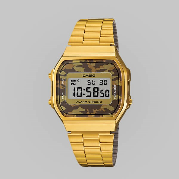 CASIO WATCHES A168WEGC-5EF GOLD CAMO