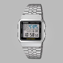 CASIO WATCHES A500WEA-1EF SILVER