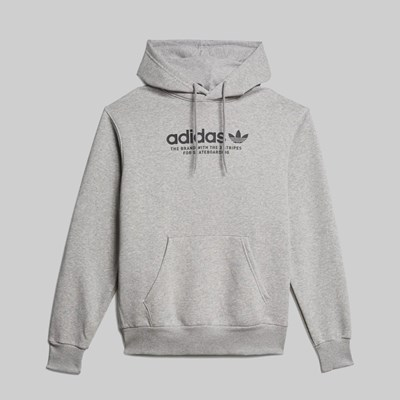 ADIDAS 4.0 LOGO HOODIE MEDIUM GREY HEATHER