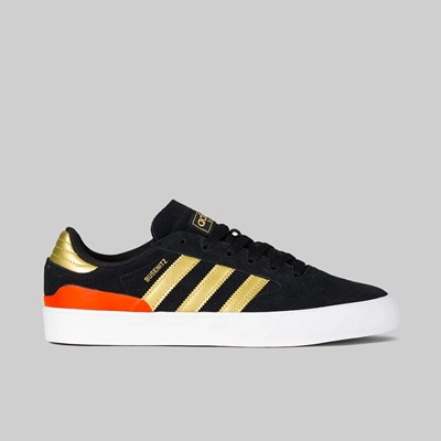 ADIDAS BUSENITZ VULC II CORE BLACK GOLD SOLAR RED
