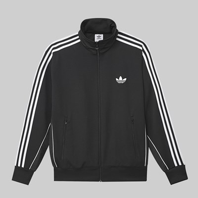 ADIDAS TYSHAWN FIREBIRD JACKET BLACK WHITE