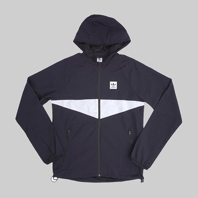 ADIDAS DEKUM PACKABLE JACKET BLACK WHITE