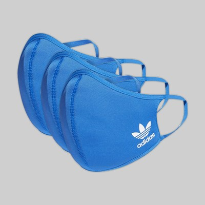 ADIDAS ORIGINALS FACE MASK (3 PACK) BLUEBIRD