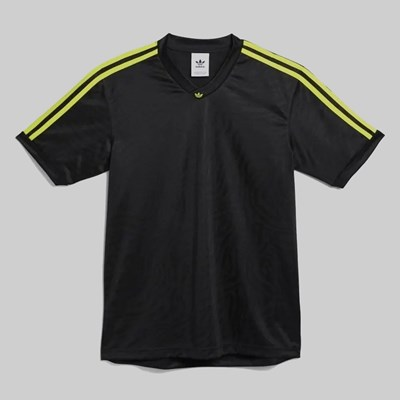 ADIDAS JACQUARD JERSEY BLACK ACTIVE YELLOW
