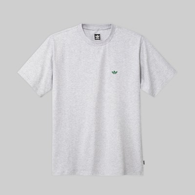 ADIDAS GONZ MINI SHMOO SS TEE LIGHT GREY BOLD GREEN