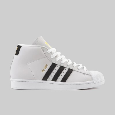 ADIDAS PRO MODEL FOOTWEAR WHITE BLACK GOLD MET