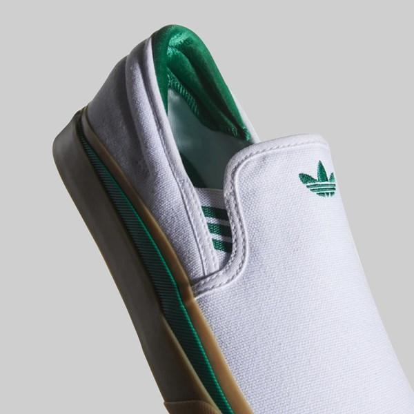 ADIDAS SABALO SLIP ON FOOTWEAR WHITE BOLD GREEN