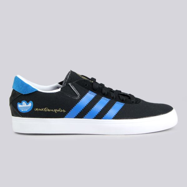 big sale 79c17 6948e Adidas Skate Gonz Pro Trainers Black Solar Blue Running White