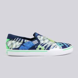 Adidas Skate Gonz Slip Trainers Uniform Blue Tropic Green White