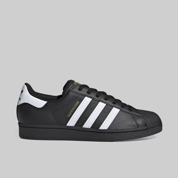 ADIDAS SUPERSTAR CORE BLACK FOOTWEAR WHITE GOLD