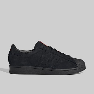 ADIDAS X THRASHER SUPERSTAR ADV CORE BLACK SCARLET
