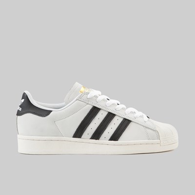 ADIDAS SUPERSTAR 2 TONE WHITE BLACK GOLD MET